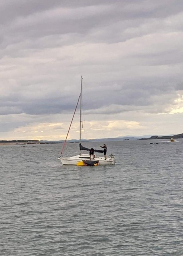 Two swimmers were seconds from drowning when the crew of a passing yacht came to their aid. Photo: North Berwick Coastguard Rescue Team