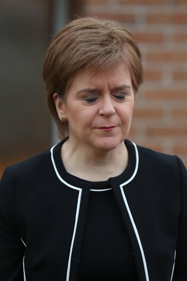 First Minister of Scotland, Nicola Sturgeon, leaves her home in Glasgow this morning (Photo: Andrew Milligan/PA Wire).