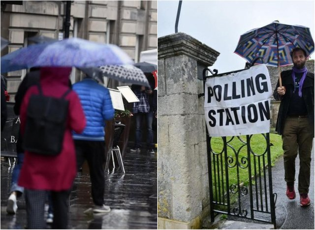 It will be a cold and wet day across Scotland on election day.