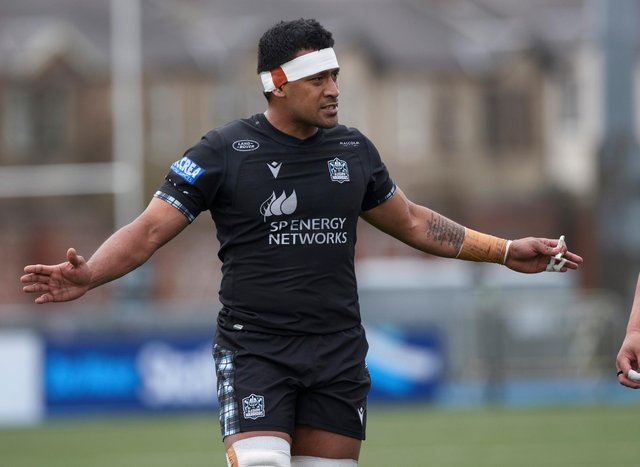 Fotu  Lokotui in action for Glasgow Warriors. He has agreed a deal to join Agen. Picture: Craig Williamson/SNS
