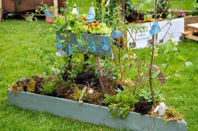 Bun Sgoil Stafainn of Portree's 'Wetlands of Wonder' was awarded the prize for Best Garden in the One Planet Picnic theme in 2019