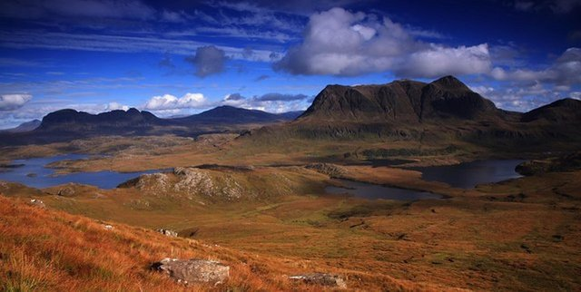 Cul Mor, Suilven and Canisp mountains - just a few of the wonderful landmarks found on the North Coast 500 driving route. PIC: djmacpherson/CC.