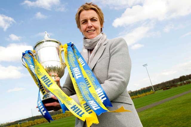 Hibernian Chief Executive Leeann Dempster was at the helm as the club finally ended the 114 year wait for a Scottish Cup triumph. Photo by Craig Foy/SNS Group.