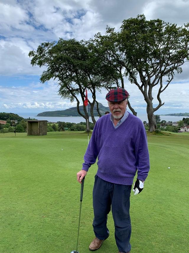 Away from medicine, Stewart Hunter loved his golf