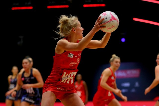 Nicola McCleery in action for the Strathclyde Sirens.