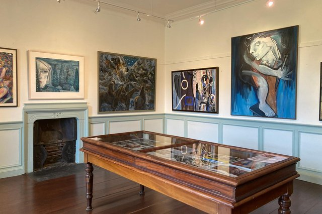 Installation view of Scottish Women Can Paint at Traquair House PIC: Susan Mansfield