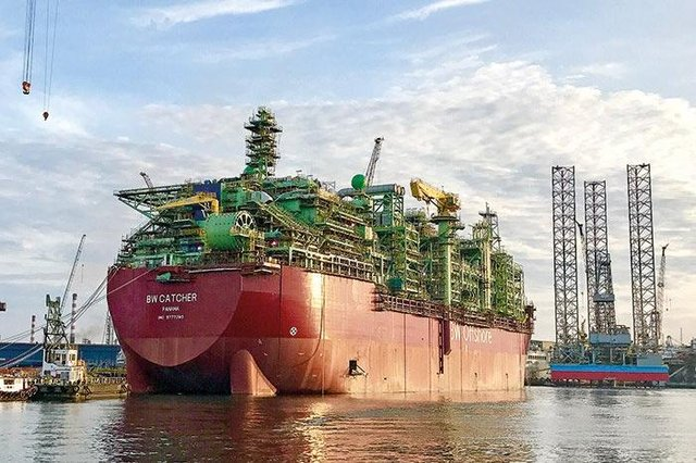 The Catcher FPSO before being floated out to the North Sea. Picture: Premier Oil