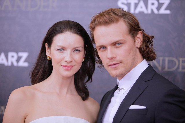 The show stars Scots actor Sam Heughan as Jamie Fraser, and Caitriona Balfe as Claire Fraser (Getty Images)