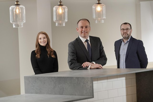 Left to right: Lynsay Thorburn, Grant Fraser and Raymond McGovern of Glasgow-headquartered Digitonic. Picture: Stewart Attwood