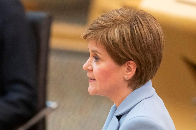 Nicola Sturgeon was re-elected Scotland's First Minister at Holyrood on 18 May (Picture: Jane Barlow/AFP via /Getty)