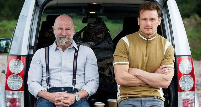 Sam Heughan and Graham McTavish's new travel show explores Scotland. Picture: Starz