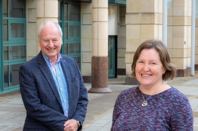 Eric Young, chairman of Archangels, alongside Maureen Kinsler, who has been appointed to the board of directors. Picture: Peter Devlin