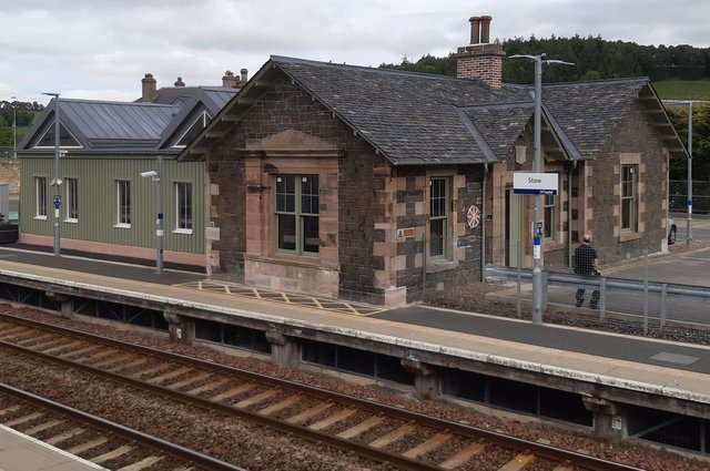 Stow station was originally not to be reopened as part of the Borders Railway project.  Image: The Scotsman