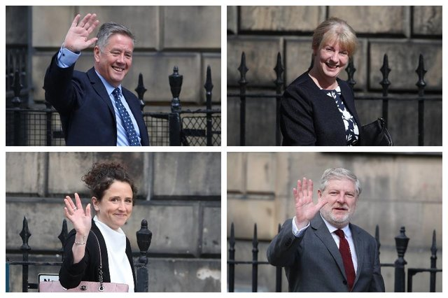 Keith Brown, Shona Robison, Mairi Gougeon and Angus Robertson are the new faces in Nicola Sturgeon's cabinet.