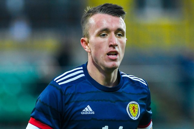 David Turnbull, pictured in action for Scotland U21s, has been called up to the senior squad for the first time for Euro 2020. (Photo by Craig Foy / SNS Group)
