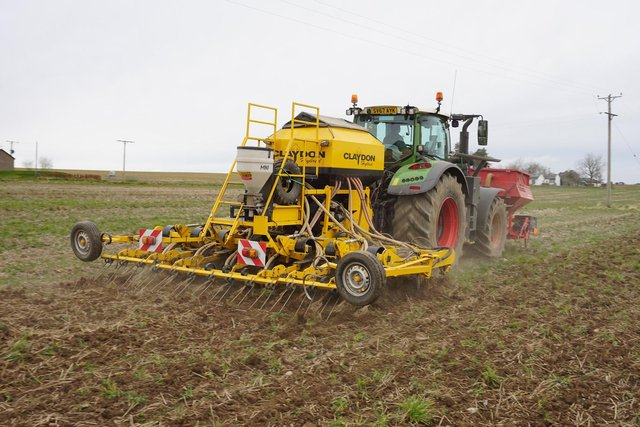 Direct drilling cuts out the need to plough.