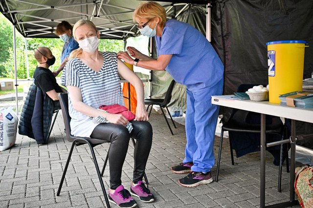 Clinics are opening up to those aged 40 and over who have not yet had a first dose of the vaccine (Getty Images)