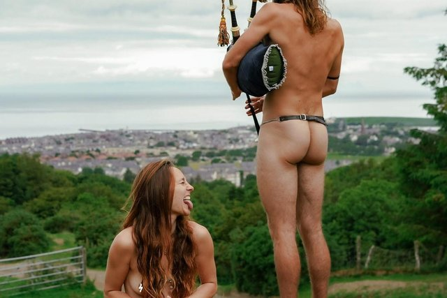 Silke and Kieran passing the time in Girvan picture: Silke Muys