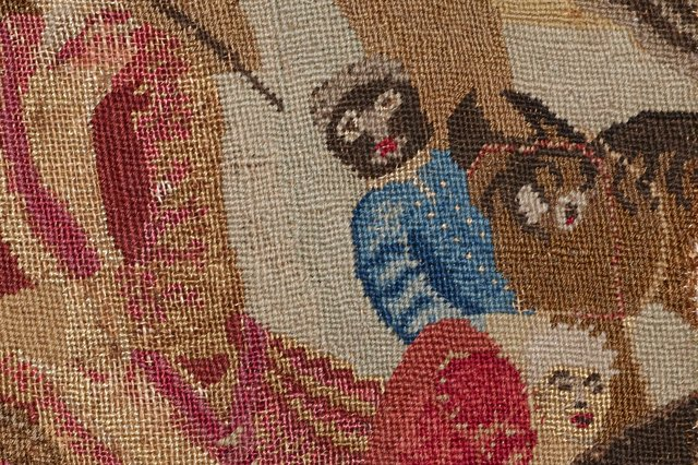 The black man featured in the Battle of Culloden tapestry. PIC: Ewen Weatherspoon/ NTS.