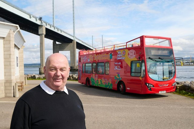 D&E Coaches' Donald Mathieson is delighted by the response to the revitalised City Sightseeing tours operated by D&E Coaches. Picture: Ewen Weatherspoon