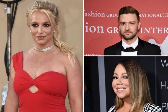 Justin Timberlake and Mariah Carey are among celebrities showing their support for Britney Spears as she asks a judge to end her conservatorship.