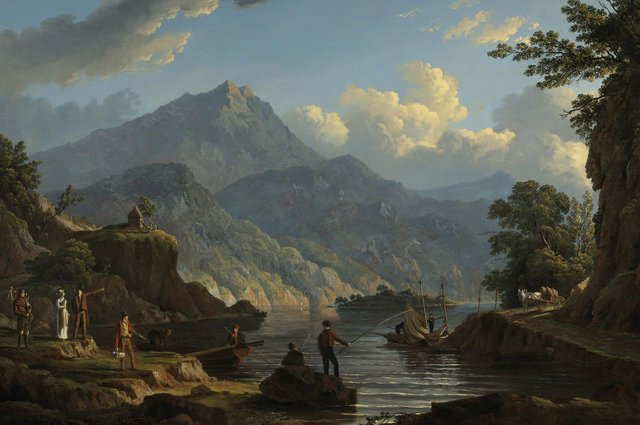Detail from Landscape with Tourists at Loch Katrine by John Knox, c1815-20 PIC: Courtesy of Birlinn Ltd