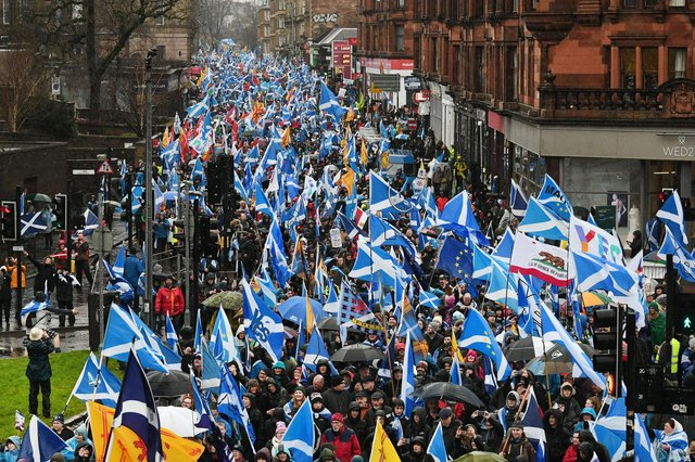 Support for independence has remained steady in recent weeks. Picture: John Devlin
