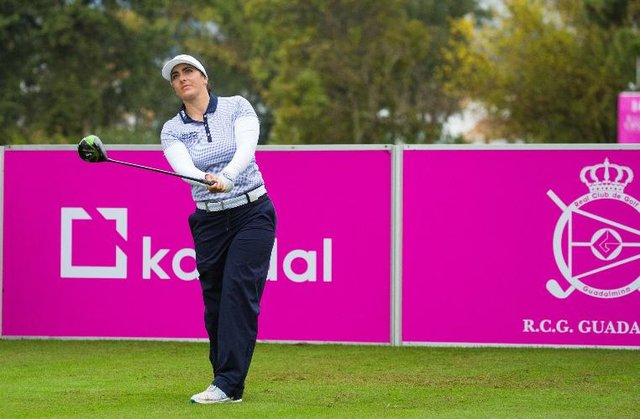 Kelsey MacDonald on her way to an opening four-under-par 68 in the Andalucía Costa Del Sol Open De Espana at Real Club De Golf Guadalmina. Picture: Tristan Jones