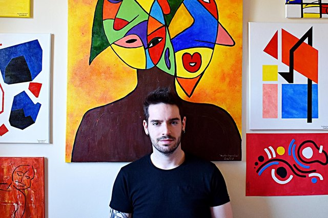 Miguel, a 29-year-old painter known as WG Saraband.