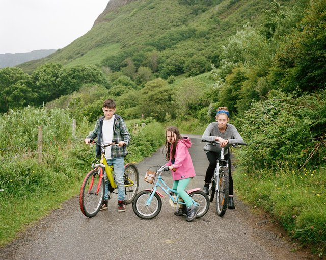 Brother and sisters on bikes on Eigg. Photographer Danny North immersed himself in island life for his series As I Found Her with a number of photographs set to be acquired by Scottish National Portrait Gallery. PIC: Danny North.