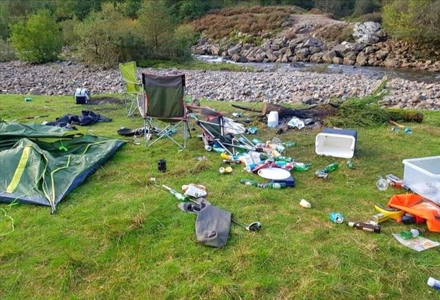 Countryside rangers have reported a massive increase in littering since the start of the Covid pandemic, including careless dumping of human and animal waste (Picture: National Trust for Scotland)