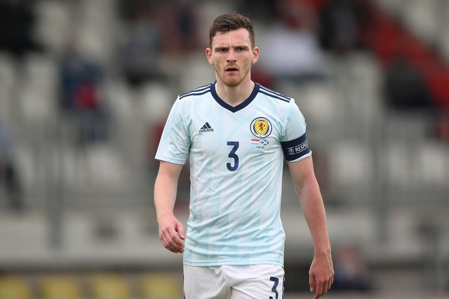 Scotland captain Andy Robertson's journey from rejection at 15 by Celtic to winning the Champions League with Liverpool has been well documented. (Photo by Christian Kaspar-Bartke/Getty Images)