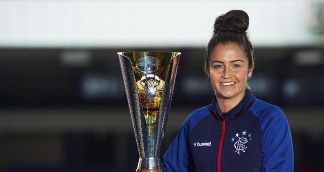 Emma Brownlie and her Rangers team mates will be looking to make huge strides twowards a first SWPL title on Wednesday. Mark Scates/SNS