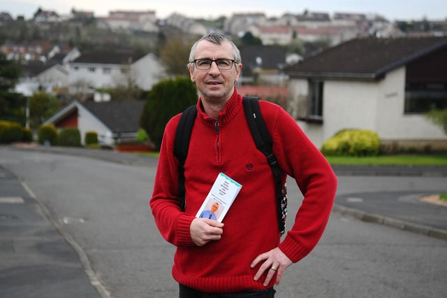 Peter Krykant is standing as an independent candidate for Falkirk East. Picture: Michael Gillen