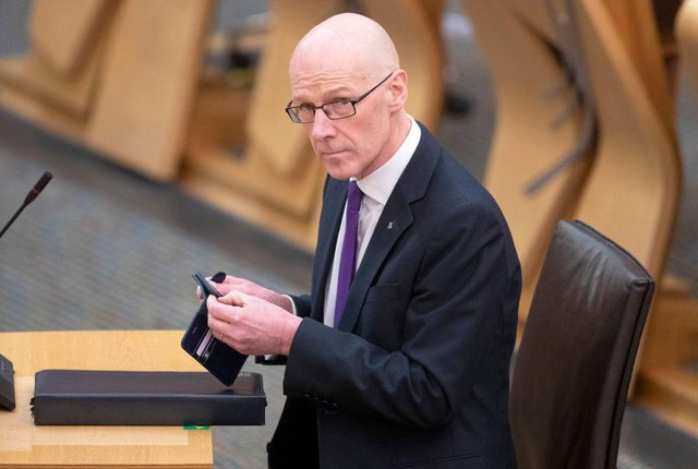 John Swinney looks set to face a vote of no confidence this week (Getty Images)