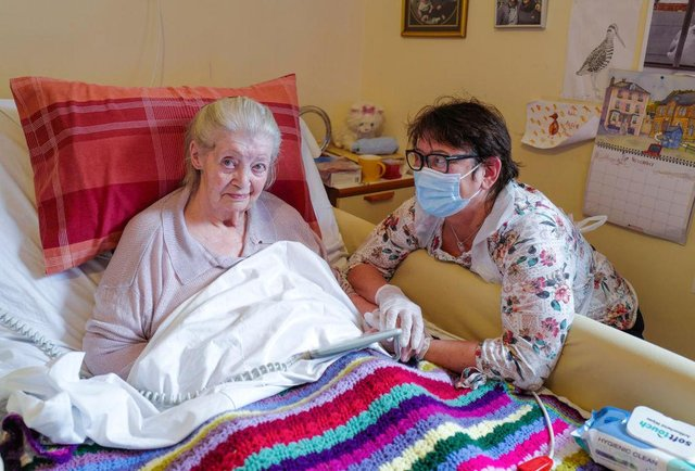 Scots will be able to visit relatives in care homes from the beginning of March, according to First Minister Nicola Sturgeon. (Photo by Hugh Hastings/Getty Images)