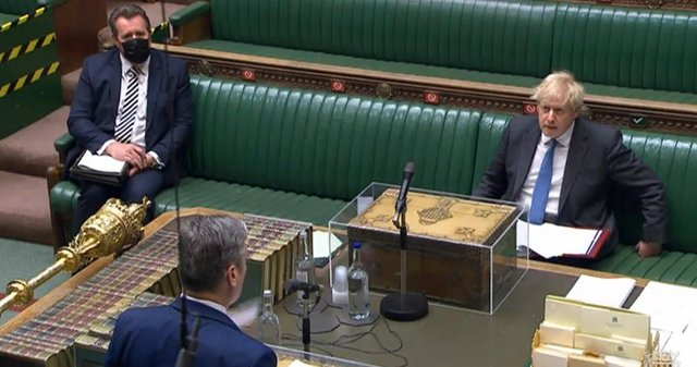 Prime Minister Boris Johnson clashed with Sir Keir Starmer today in a heated PMQs