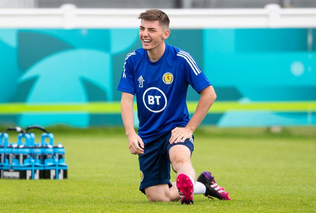 Billy Gilmour's positive Covid test has ruled him out of Scotland's Euro 2020 showdown with Croatia. (Photo by Ross MacDonald / SNS Group)