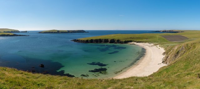The Bay of Scousburgh in the Shetland Isles has been named as one of Scotland's best beaches by Lonely Planet editors. PIC: Joe de Sousa.