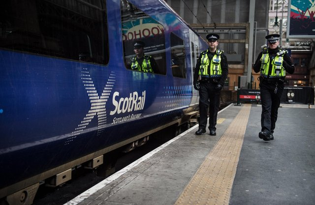 """British Transport Police said officers would """"properly challenge"""" passengers over Covid requirements. Picture: John Devlin"""