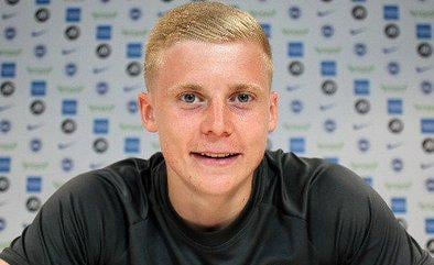 Brighton's Alex Cochrane is joining Hearts on loan. Pic: Brighton & Hove Albion Twitter