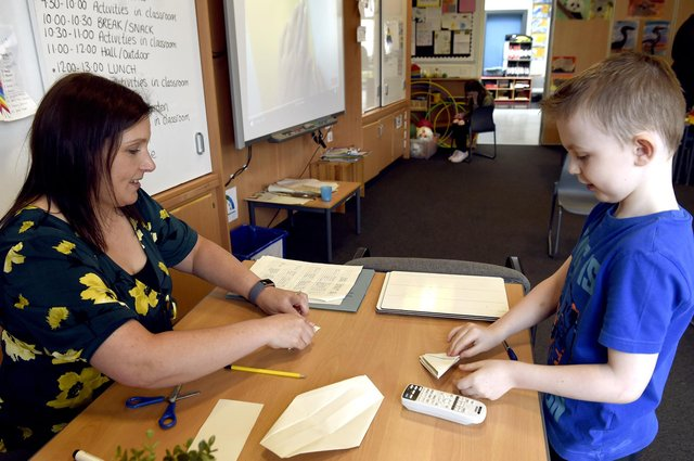 Juniper Green Primary School is one of the hubs in Edinburgh being used for key worker children to attend