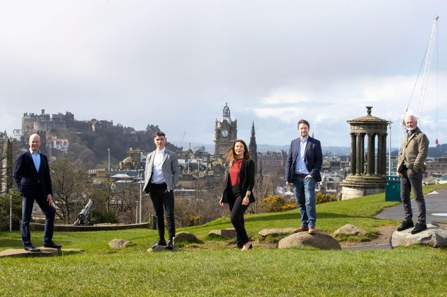 Some of the VizCareer team pictured in Edinburgh. Picture: Jeff Holmes