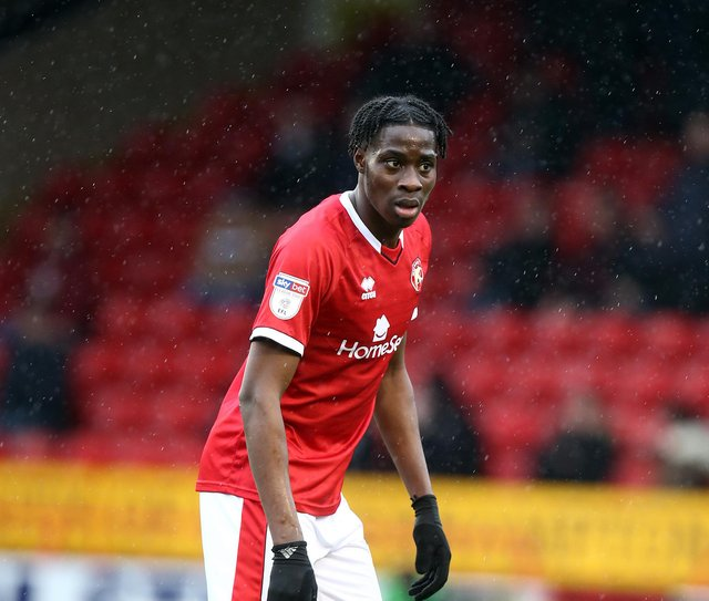 Walsall's Elijah Adebayo is wanted by Hearts. Pic: Getty Images.