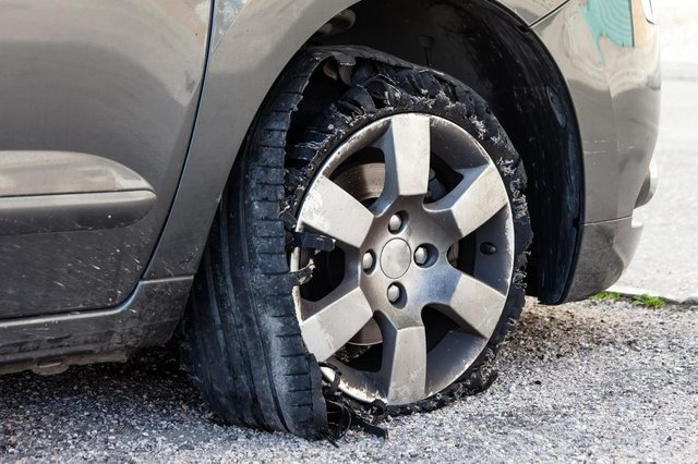A badly maintained tyre can suffer catastrophic failure