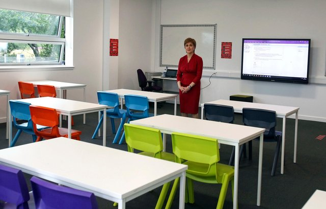Nicola Sturgeon will make her announcement this afternoon on when schools will reopen in Scotland