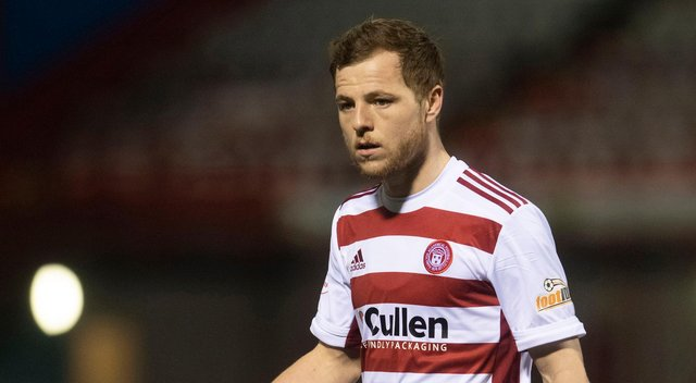 Bruce Anderson has been on loan at Hamilton Accies since January. Picture: SNS
