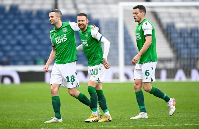 Hibs defeated Dundee United 2-0 in the semi-final. Picture: SNS