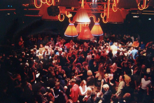 Packed in  --- the dancefloor at Amadeus in Aberdeen which had a capacity of 2,100. The superclub lasted five years and is now a branch of homeware store The Range. PIC: Laura Hughes.
