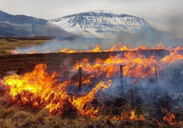 Firefighters in Skye were busy over the weekend fighting multiple wildfires. Pic: Dunvegan Fire Station